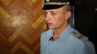 Полицейский спас человека на пожаре