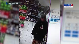 Буйские полицейские задержали мужчину, напавшего на местный продуктовый магазин