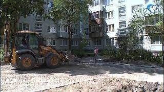 Почти половину из запланированных 150 дворов Великого Новгорода уже отремонтировали