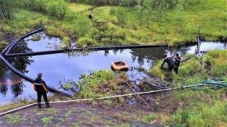 В Сургуте устраняют нефтяное загрязнение, появившееся из-за нелегальной врезки в трубопровод