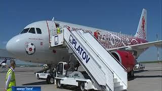 В Платов прибыл уникальный арт-самолет авиакомпании «Россия»