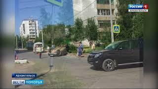 Водитель японского внедорожника перевернул на крышу отечественный кроссовер