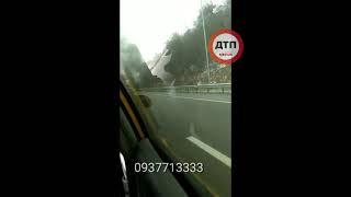 Серьёзное ДТП с пострадавшими и пожаром под Киевом на Обуховской трассе в направлении районного цент
