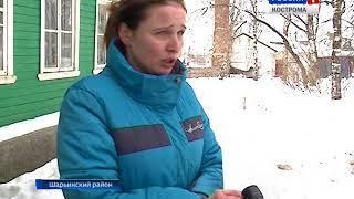 В деревне Кривячка в Костромской области рухнула крыша жилого дома