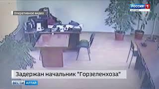 Опубликовано видео задержания начальника барнаульского «Горзеленхоза» Сергея Гончарова