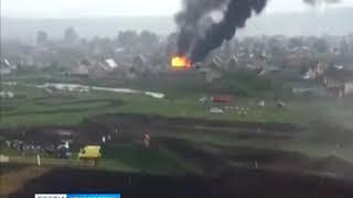 В поселке Емельяново сгорел жилой дом