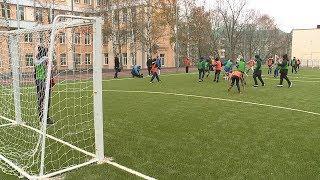 В саранской гимназии №20 открыли новый школьный стадион