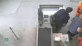 Грабителя в магазине зафиксировала видеокамера