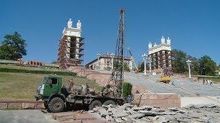 Капитальный ремонт Центральной набережной ведется одновременно на нескольких объектах