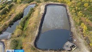 Нефтяной пруд 30 ых годов угрожает экологии Магадана