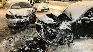 Лобовое ДТП с пострадавшими на ул. Телиги