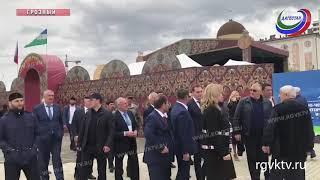 Дагестанская делегация принимает участие в торжествах, посвященных юбилею Грозного