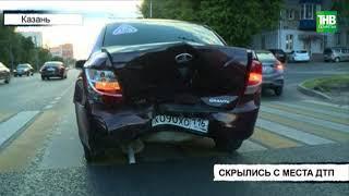 Шевроле на полной скорости протаранила Ладу Гранту на улице Восстания - ТНВ