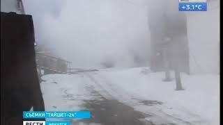 Пожар в Тайшете  Горят склады магазинов «Посуда Центр» и «Дети»