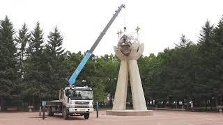 Ремонт скульптуры на пл.Дружбы Биробиджана выполняется на средства подрядчика(РИА Биробиджан)