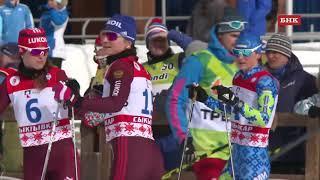 Командный спринт. Чемпионат России по лыжным гонкам 2018 года.  Классический стиль. Женщины.