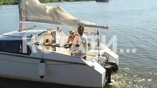 Гаражное судостроение - житель Лыскова построил и спустил на воду яхту
