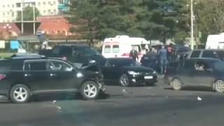 Комсомольск страшная авария в центре 27 сентября 2018