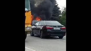 В  Винсадах сгорел автомобиль