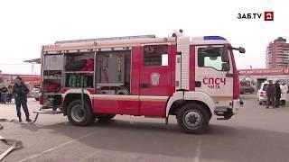В одном из торговых комплексов Читы провели пожарно-тактические учения