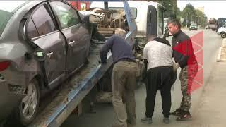 """Серьезное ДТП в Туле: столкнулись """"Рено"""" и """"Шевроле Корвет"""""""