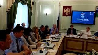 Виктор Рейн на обсуждении пенсионной реформы в Тюмени
