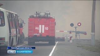 Сильный пожар на границе Башкирии и Оренбургской области локализован