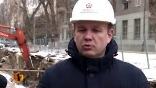 На улице Советской Волгограда демонтируют старую теплотрассум