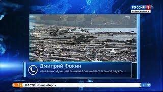 Спасатели предупредили о пропуске древесины через плотину Новосибирской ГЭС
