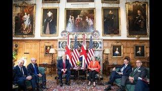Лондон протестует. Как прошли переговоры Трампа с Терезой Мэй и британской королевой