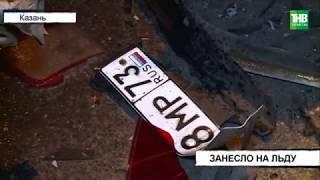 В стоящую Рено на высокой скорости врезались Жигули | ТНВ