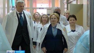 Министр здравоохранения РФ Вероника Скворцова в Магадане