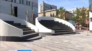 Возле театра оперы и балета появился уличный амфитеатр