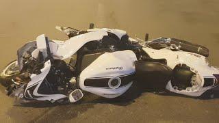 Мото ДТП с пострадавшими в Киеве на Корчеватом: Мазда и байк