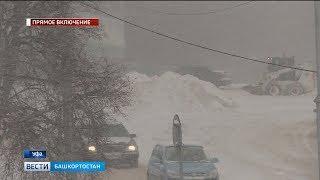 В республике устраняют последствия снегопада