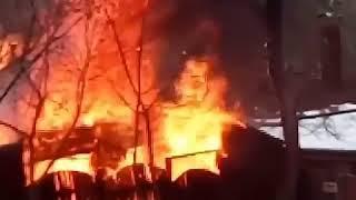 Пожар в Ботаническом саду 18.2.2018 Ростов-на-Дону Главный