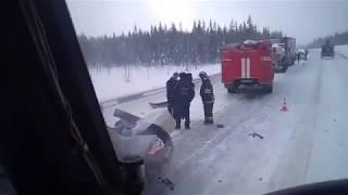 Видео с места смертельного ДТП, в котором погиб экс-депутат Госсовета Коми Игорь