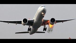 В США у Боинга загорелся двигатель/ДТП с искрами/взрыв воздушных шаров Мобильный репортер 27.02.18