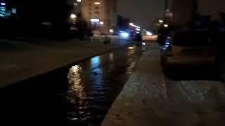 Прорыв водопровода на Комсомольском проспекте