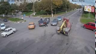 ДТП у Калуші на перехресті вулиць Євшана та Європейської