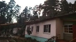 Из-за сильного урагана в детском лагере под Пензой повреждены некоторые корпуса