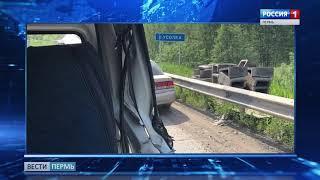 В Прикамье лесовоз протаранил микроавтобус