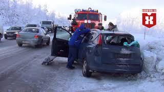 Лобовое ДТП с маршрутной ГАЗелью 21 февраля