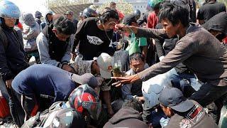Землетрясение в Индонезии: спасатели ищут выживших