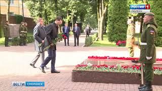 Полпред Президента в ЦФО Игорь Щеголев посетил смоленский Сквер Памяти Героев