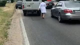 15.06.2018 В Алмате произошло ДТП сбили девушку