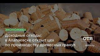 Доходные отходы: в Алапаевске открыт цех по производству древесных гранул