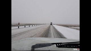 На трассе М-5 затруднено движение из-за снегопада