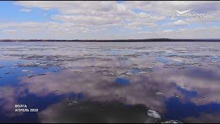 Самара с высоты птичьего полета. Волга освобождается ото льда