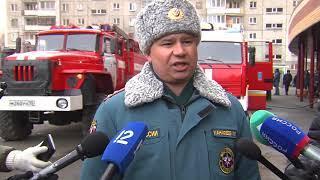 """Сегодня пожарные отрабатывали навыки на """"Высоцком"""""""